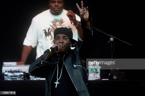 Young Jeezy performing at Jones Beach on Saturday night, August 1, 2009.