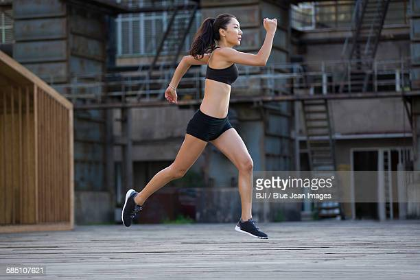 Young jogger running outdoors