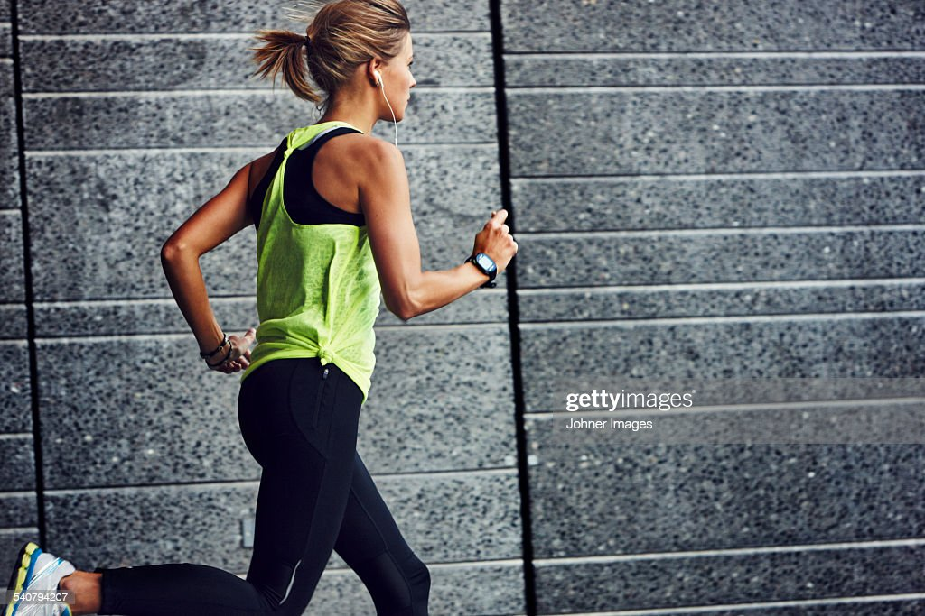 Young jogger running : Foto stock