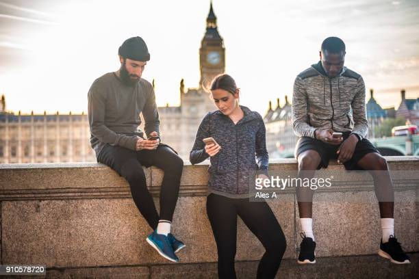 Young joggers in London