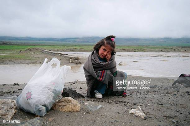 Young Kabuli girl during the fighting The city fell into the hands of the mujahideen after Mohammad Najibullah's forces were defeated