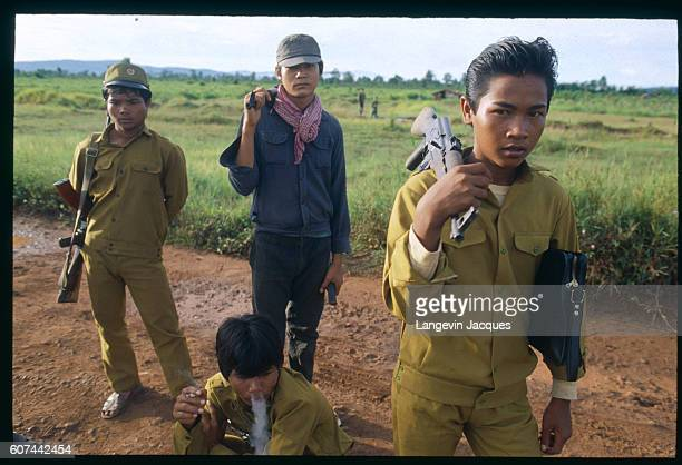Young Khmer Rouge fighters