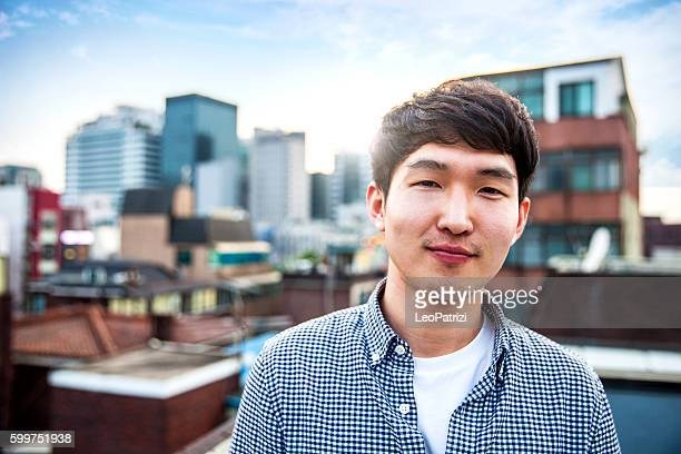 Young korean man portrayed in Seoul, South Korea