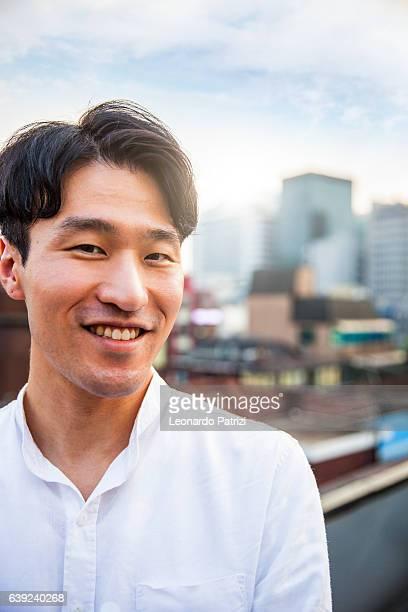 Young korean man portrayed in Seoul, South Korea