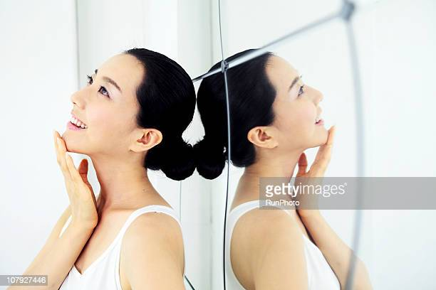 young korean woman - chin stock pictures, royalty-free photos & images