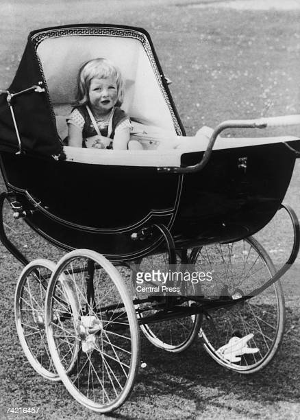 A young Lady Diana Spencer in her pram at Park House Sandringham in Norfolk 1963