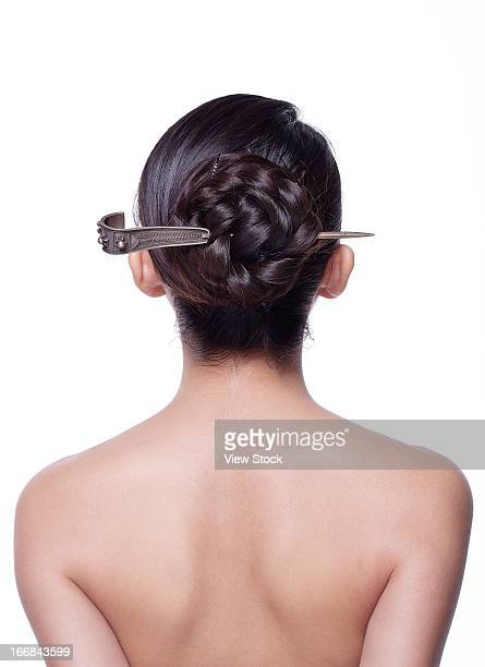 Young lady hair tied up