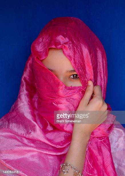 young lady in morocco - moroccan girls stock photos and pictures