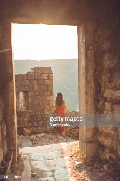 young lady relax on holiday - hvar stock photos and pictures