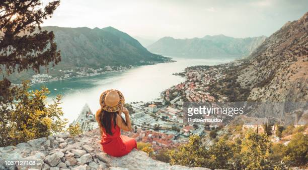 young lady relax on holiday - croatia stock pictures, royalty-free photos & images