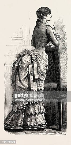 Young Lady's Demitoilette Back Fashion Engraving 1882