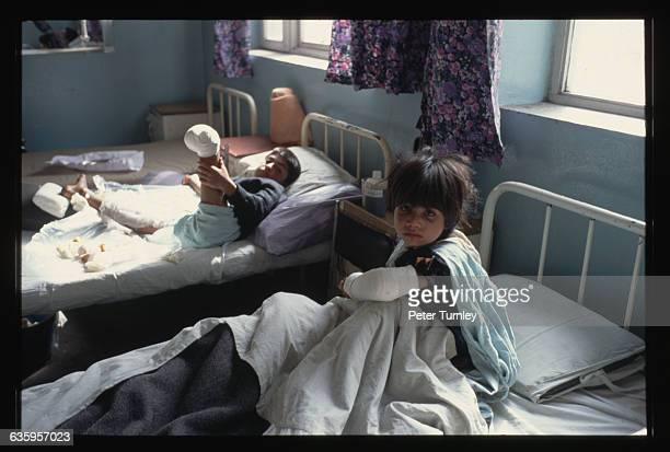 Young Land Mine Victims in a Hospital
