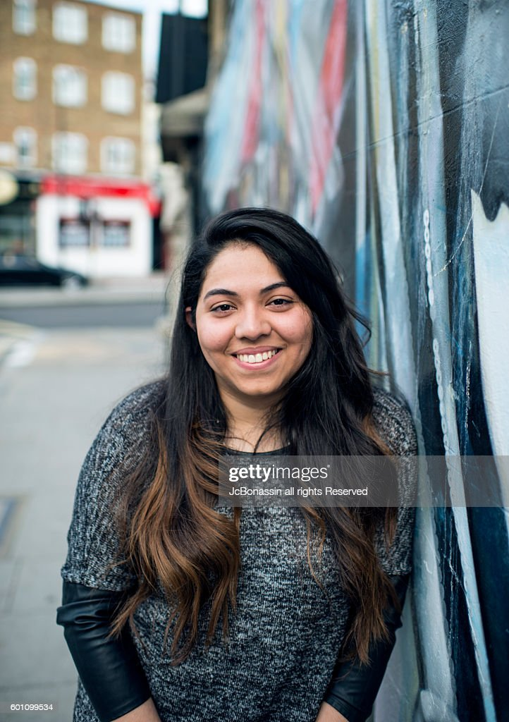 Young latin Woman Smiling : Stock Photo