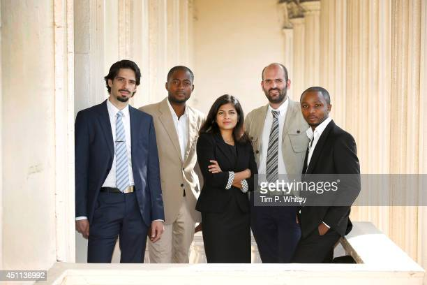 Young Laureates Hosam Zowawi from Saudi Arabia, Arthur Zang from Cameroon, Neeti Kailas from India, Francesco Sauro from Italy and Olivier Nsengimana...