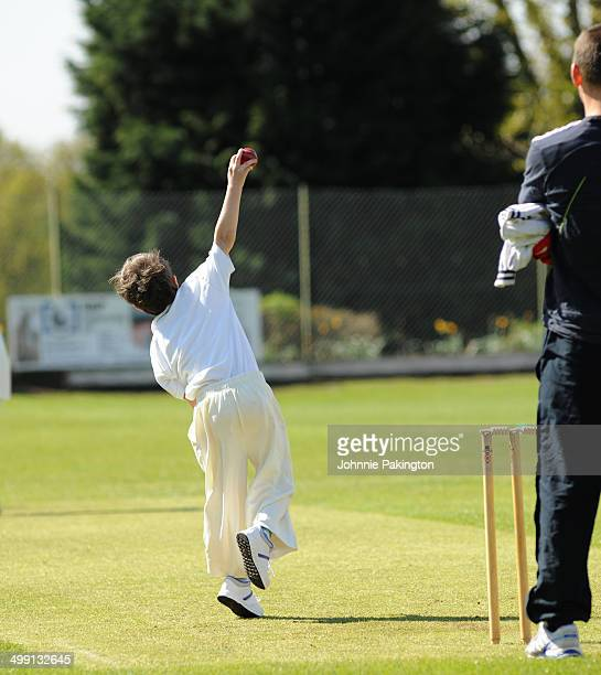 Young Leg Spinner Bowling