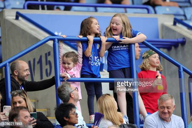 Young Leicester City fans during the Barclays FA Women's Super League match between Leicester City Women and Manchester United Women at King Power...