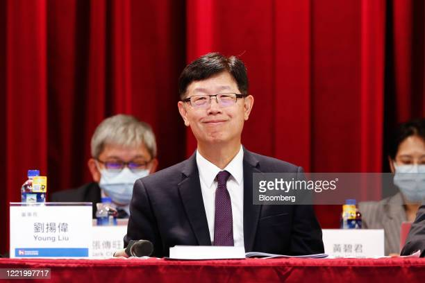 Young Liu, chairman of Hon Hai Precision Industry Co., attends the company's annual general meeting in New Taipei City, Taiwan, on Tuesday, June 23,...