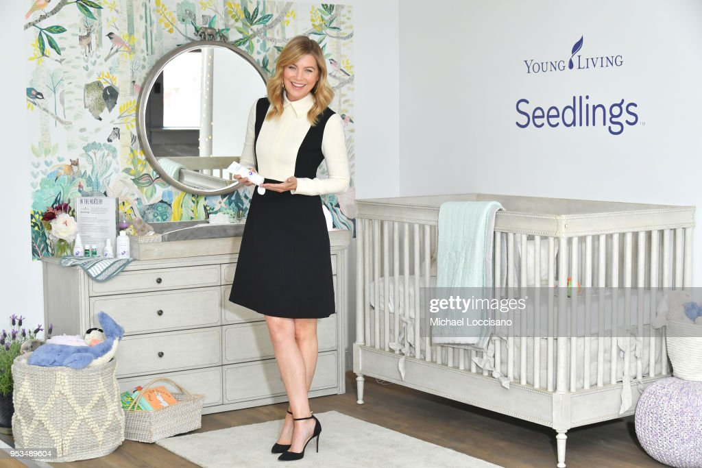 Young Living Essential Oils partnered with Ellen Pompeo - actress, director, producer and busy mom of three - to introduce Young Living's baby care line, Seedlings™, where she shared her favorite Young Living products on May 1, 2018 in New York City.