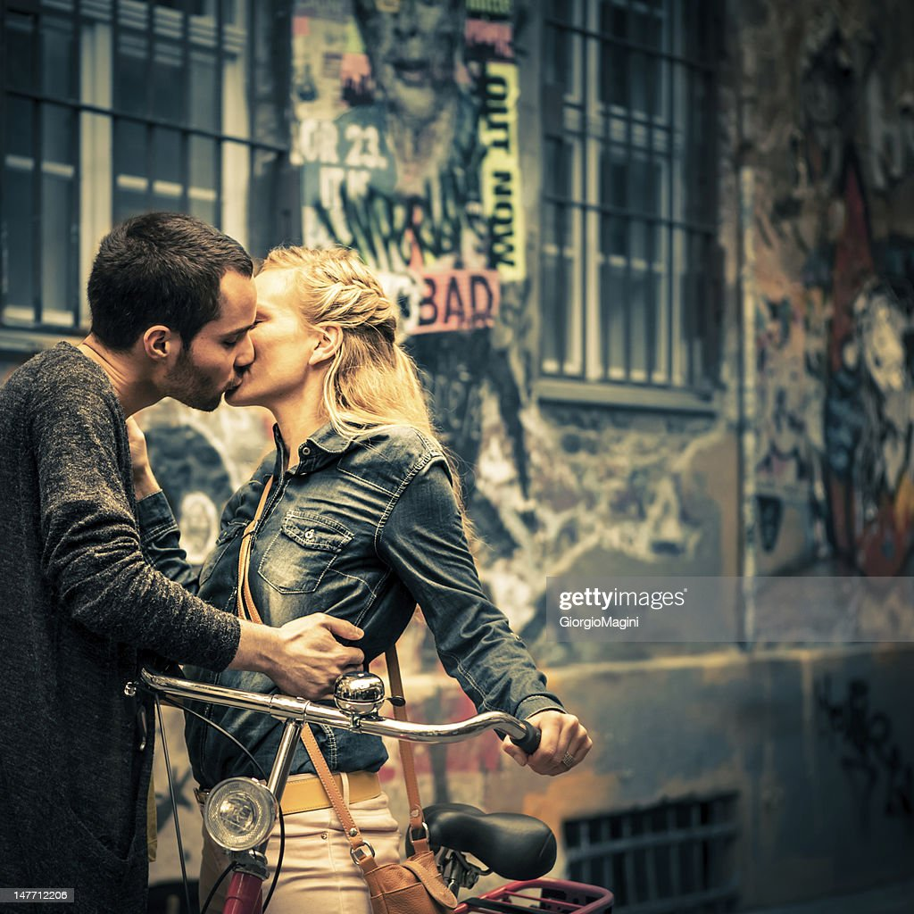 Young Love in Berlin : Stock Photo