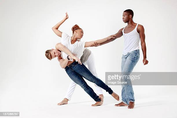 young lovers being separated - modern dancing stock pictures, royalty-free photos & images
