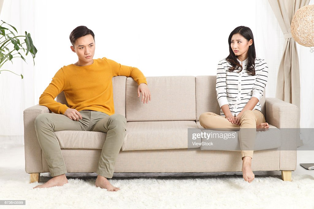 Young lovers quarrel : Stock Photo