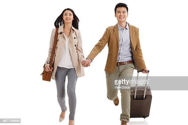Young lovers travel