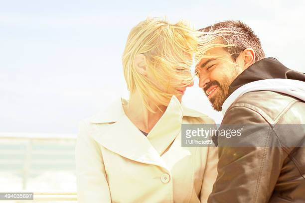 young loving couple at wharf - pjphoto69 stock pictures, royalty-free photos & images