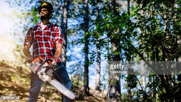 Ung skogshuggare