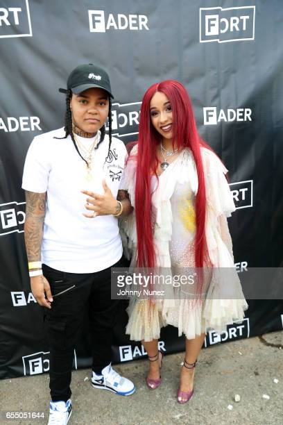 Young MA and Cardi B attend Day 9 of the 2017 SXSW Conference And Festivals on March 18 2017 in Austin Texas