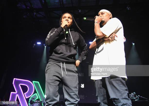 Young Ma and DJ SpinKing perform onstage during Chance The Rapper to Headline Spotify's RapCaviar Live In Brooklyn in Partnership with Live Nation...