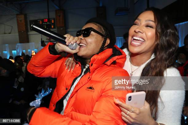 Young MA and La La Anthony attend The 2017 'Winter Wonderland' Holiday Charity Event hosted by La La Anthony at Gauchos Gym on December 21 2017 in...
