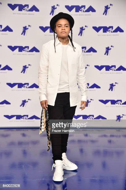 Young MA attends the 2017 MTV Video Music Awards at The Forum on August 27 2017 in Inglewood California