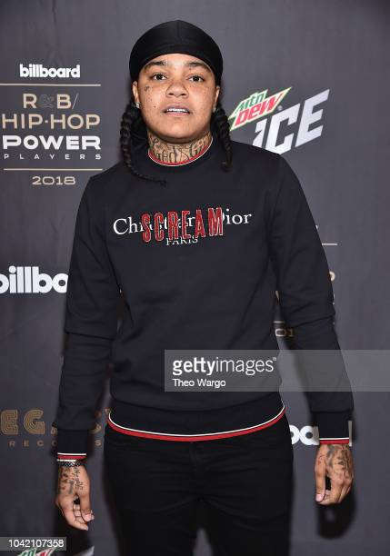 Young MA attends the Billboard 2018 RB HipHop Power Players event at Legacy Records on September 27 2018 in New York City