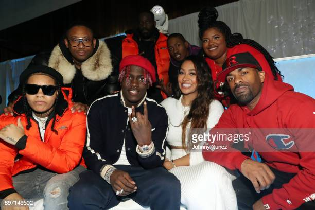 Young MA Maino Lil Yachty La La Anthony 2 Milly Paris Phillips and DJ Clue attend The 2017 'Winter Wonderland' Holiday Charity Event hosted by La La...