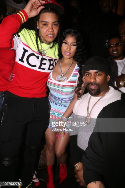 Young MA Nicki Minaj and DJ Clue attend Church On Sundays Hosted By Nicki Minaj And Phil The Mayor And DJ Clues Birthday Party at The Argyle on...