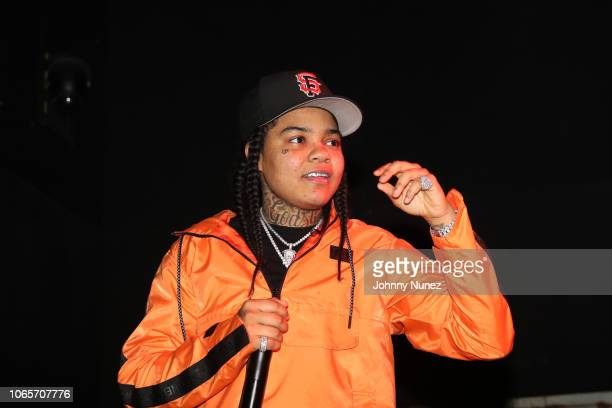 Young MA performs at the The Fader Fort at Rough Trade on November 26 2018 in Brooklyn New York