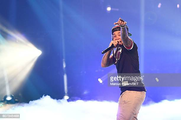 Young MA performs onstage during the 2016 BET Hip Hop Awards at Cobb Energy Performing Arts Center on September 17 2016 in Atlanta Georgia