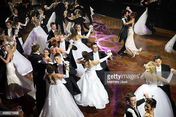 Young mainly Russian debutantes make their first performance before the assembled audience in Old Billingsgate Hall on November 2 2014 in London...