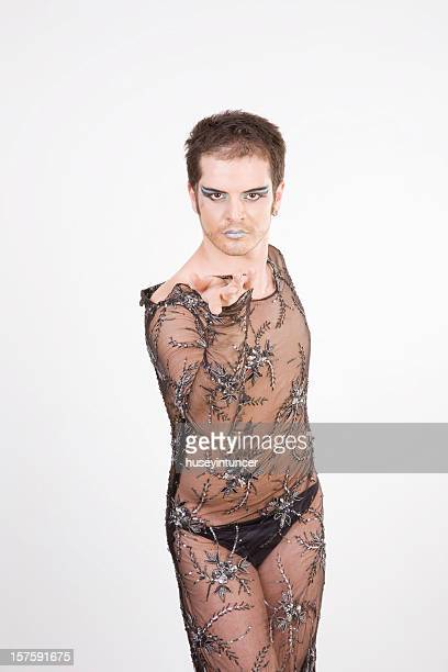 young male dancer - transvestite stock photos and pictures