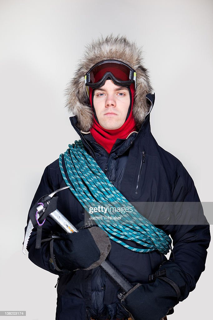 Young Male Explorer : Stock Photo