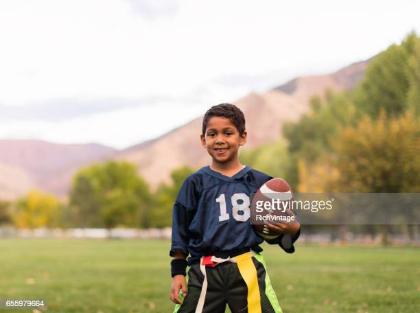 Young Male Flag Football Player