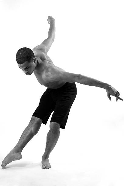 Young male in dancer position