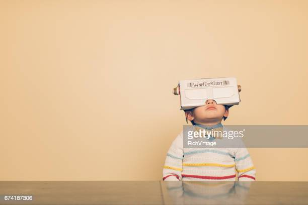 Young Male Nerd with Virtual Reality Headset