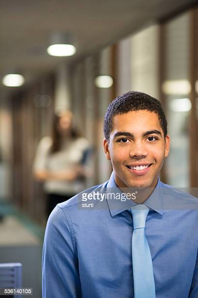 young male office worker