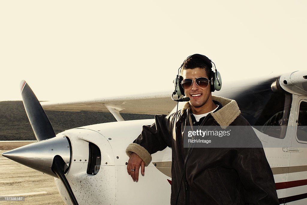 Young Male Pilot : Stock Photo