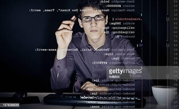 若い男性彼の css 定義の分析