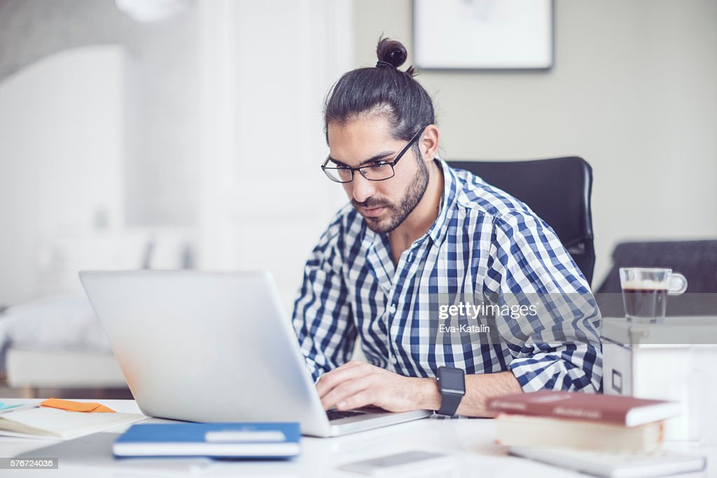 Young man at home : Stock Photo