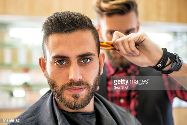 Young Man at the Barber
