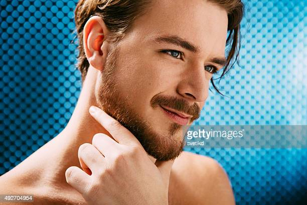 Young man beauty portrait.