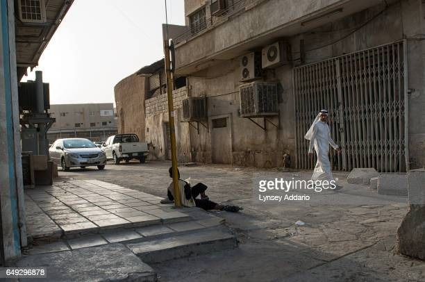 A young man begs on the streets in Riyadh Saudi Arabia March 1 2013 Despite an extremely wealthy sector of society in Saudi Arabia severe poverty is...